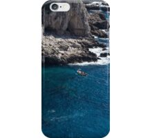 The Little Boat and the Cliff - Azure Waters Magic of Capri iPhone Case/Skin