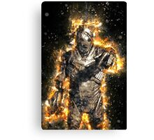 Doctor Who Exploding Cyberman Canvas Print