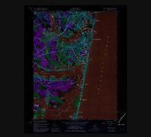 USGS TOPO Map New Jersey NJ Point Pleasant 254765 1953 24000 Inverted Unisex T-Shirt