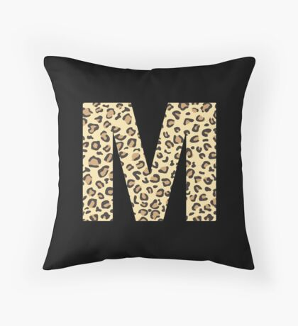 Leopard M Throw Pillow