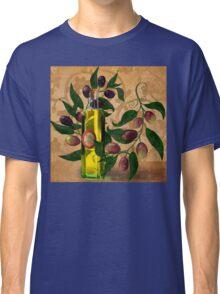 Olives, Italian Olive Oil kitchen art Classic T-Shirt