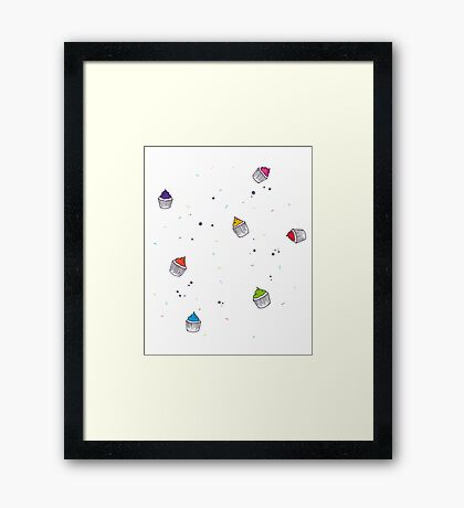 Cute Cup Cakes! Framed Print