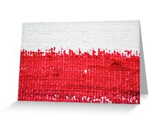Red on Canvas Greeting Card