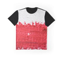 Red on Canvas Graphic T-Shirt