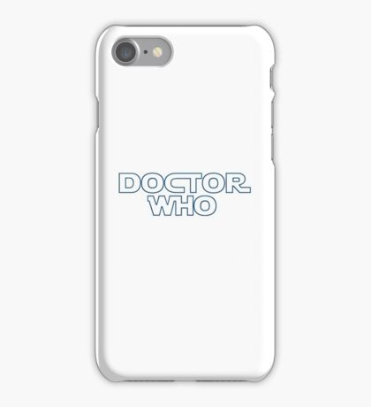 Doctor Who in Star Wars Font iPhone Case/Skin