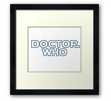 Doctor Who in Star Wars Font Framed Print