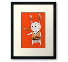 Cartoon Animals Tribal Bunny Rabbit Framed Print