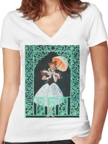 Tightrope Walk - The Haunted Mansion Women's Fitted V-Neck T-Shirt