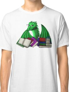 Green Dragon with Book Hoard Classic T-Shirt