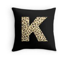 Leopard K Throw Pillow