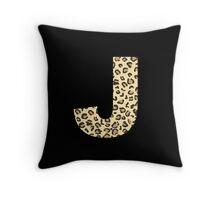 Leopard J Throw Pillow