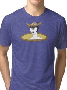 Cyclops Louise Brooks as Egyptian Valkyrie with All-Seeing Eye Tri-blend T-Shirt