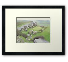 On the Edge Framed Print