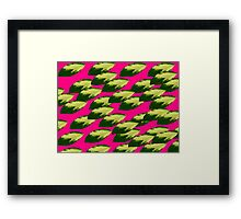 The Leaves Fell Into Grapefruit  Framed Print