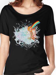 I Am Loved ( fish sandwich ) Black T-Shirt Women's Relaxed Fit T-Shirt