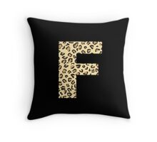 Leopard F Throw Pillow