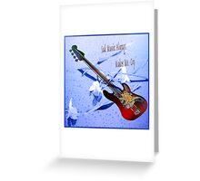 Sad Music Greeting Card