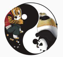 kung fu panda yin yang Kids Tee