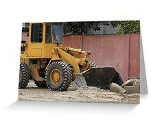 Heavy Construction Equipment Greeting Card