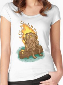 Bad Day Log Women's Fitted Scoop T-Shirt