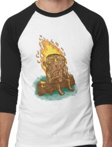 Bad Day Log Men's Baseball ¾ T-Shirt