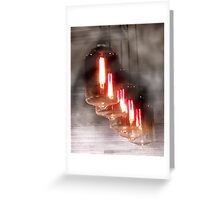 Edison Type Bulbs Greeting Card