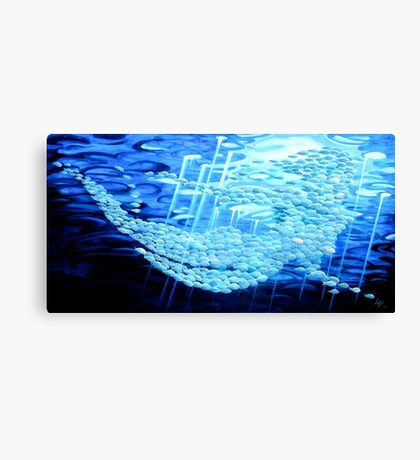 Swimming with the tide Canvas Print