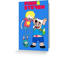 Adventure Time Finn & Steven Greeting Card