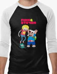 Adventure Time Finn & Steven Men's Baseball ¾ T-Shirt