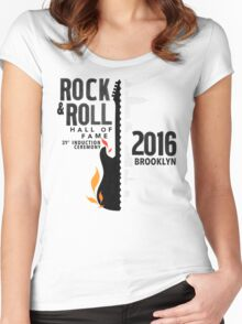 Rock Hall 2016 Rock & Roll Hall of Fame Women's Fitted Scoop T-Shirt