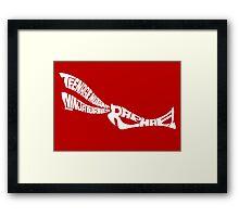 Raphael TMNT White Framed Print