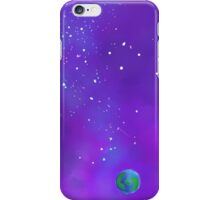 space and a blue dot iPhone Case/Skin