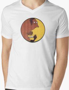 Carl and Lenny Mens V-Neck T-Shirt