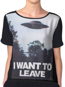 X Files Chiffon Top