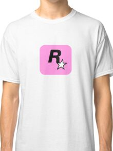 Rockstar Logo Pink Classic T-Shirt