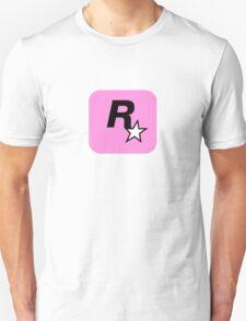 Rockstar Logo Pink Unisex T-Shirt