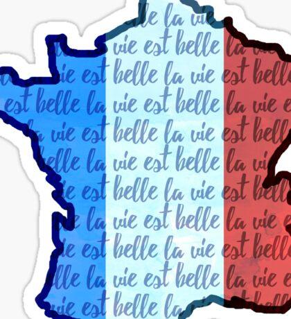 La Vie est Belle: Give for France Sticker