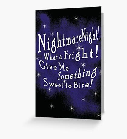 Nightmare Night Greeting Card