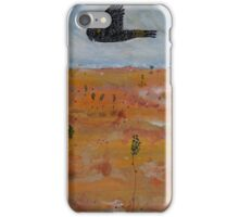 Black Cockatoo in A Tangerine Desert iPhone Case/Skin