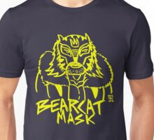 BOOTLEG WRASSLER BEARCAT MASK - YELLOW Unisex T-Shirt