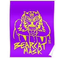 BOOTLEG WRASSLER BEARCAT MASK - YELLOW Poster