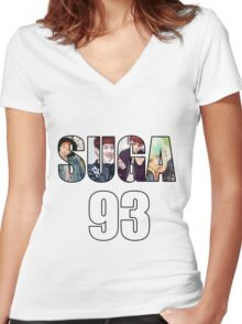 SUGA 93 Women's Fitted V-Neck T-Shirt