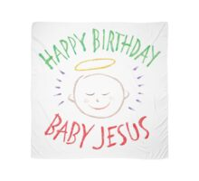Happy Birthday Baby Jesus - Colorful Chalkboard Christian Religious Merry Christmas - Christ Scarf