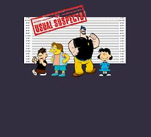 The Usual Suspects:  Famous Cartoon Bullies Unisex T-Shirt