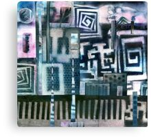 Industrial Urban - Collaged Solar Prints Canvas Print
