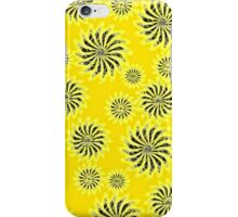 Abstract Spinning Stars Yellow Pattern iPhone Case/Skin