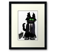 Business Cat Framed Print