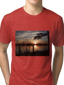Awesome Sunset Silhouette  Tri-blend T-Shirt