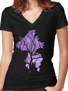 Mismagius used curse Women's Fitted V-Neck T-Shirt