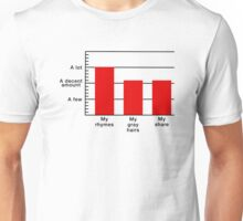 Rhymes to Gray Hairs Bar Graph Unisex T-Shirt
